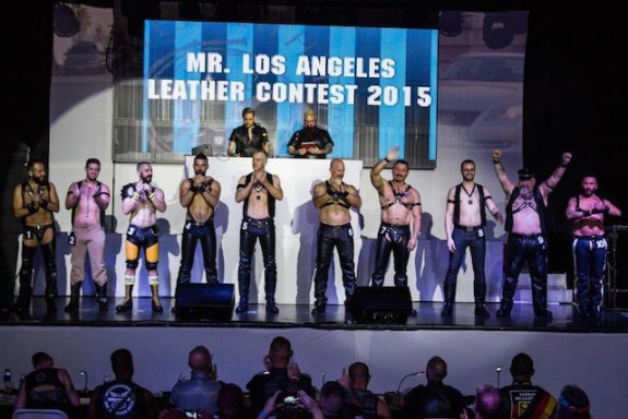 Contestants at last year's Mr. Los Angeles Leather Contest, part of L.A. Leather Pride Week