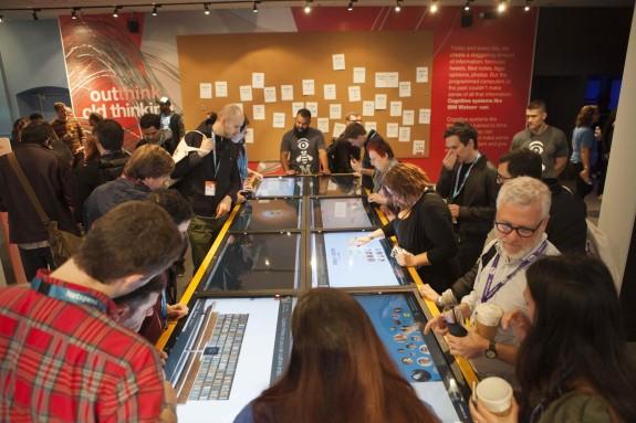 Visitors at the Makers Mosaic at IBM Cognitive