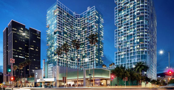 An architectural rendering of Palladium Residences, courtesy of Crescent Heights