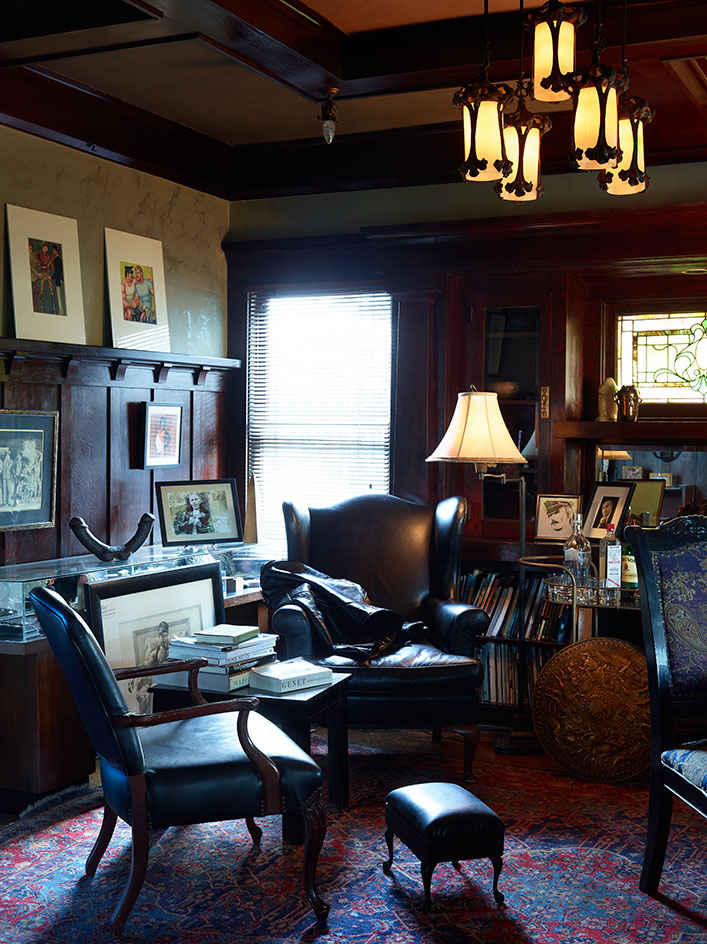 The living room of TOM House. Photograph by Martyn Thompson