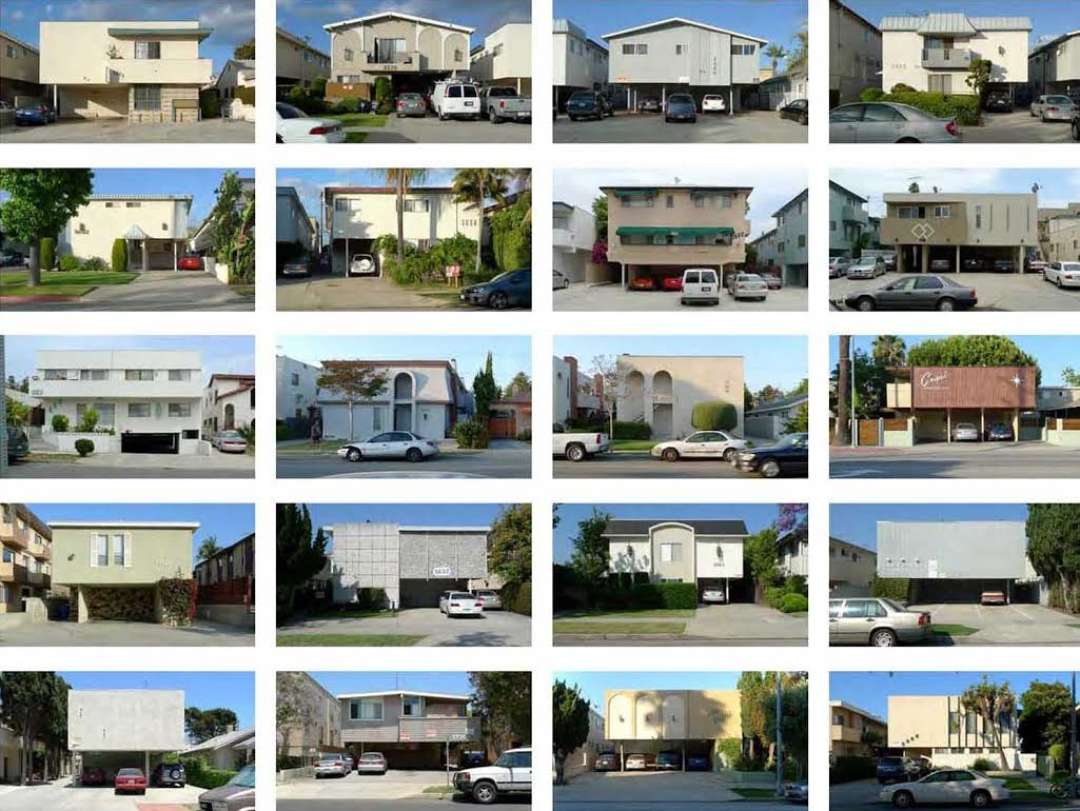 Examples of Dingbat apartments in Southern California