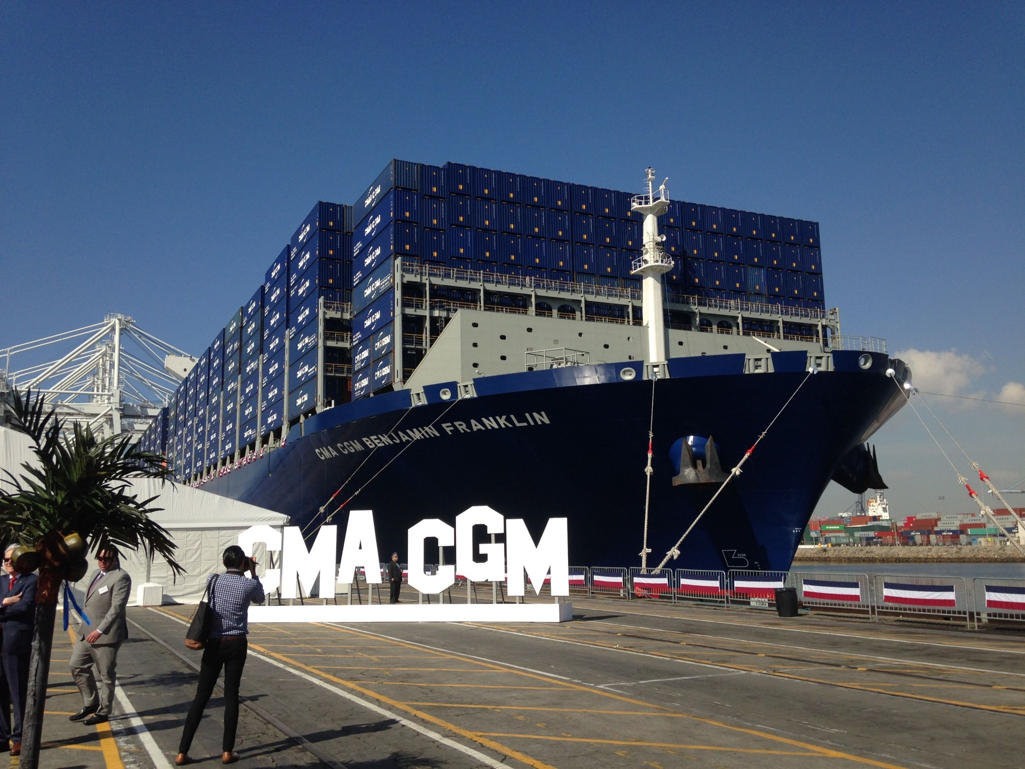 The CMA CGM Benjamin Franklin. Photo by Frances Anderton.
