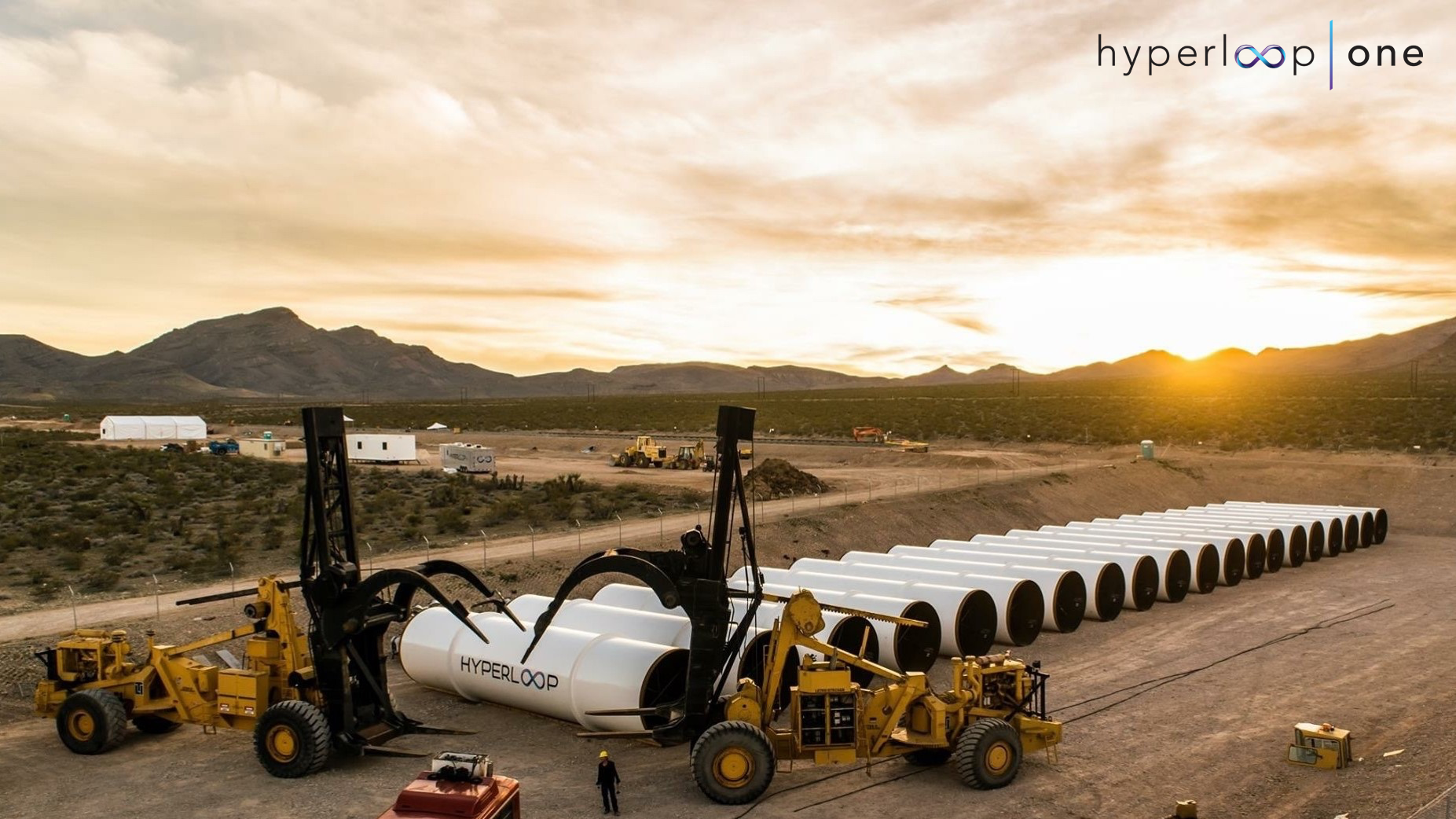 Hyperloop One's desert testing site.