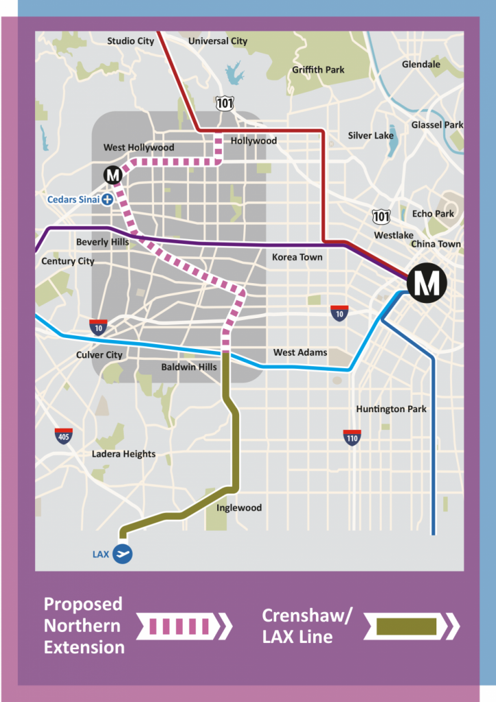 Metro's planned Purple Line Extension.