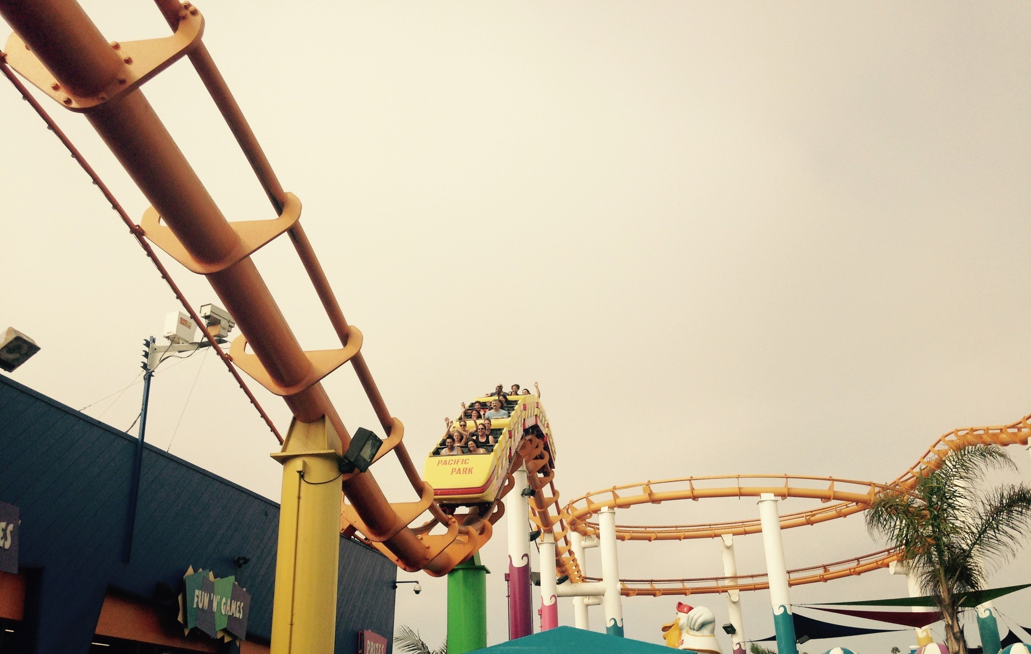 Roller coaster at Santa Monica Pier's Pacific Park; photo, Frances Anderton