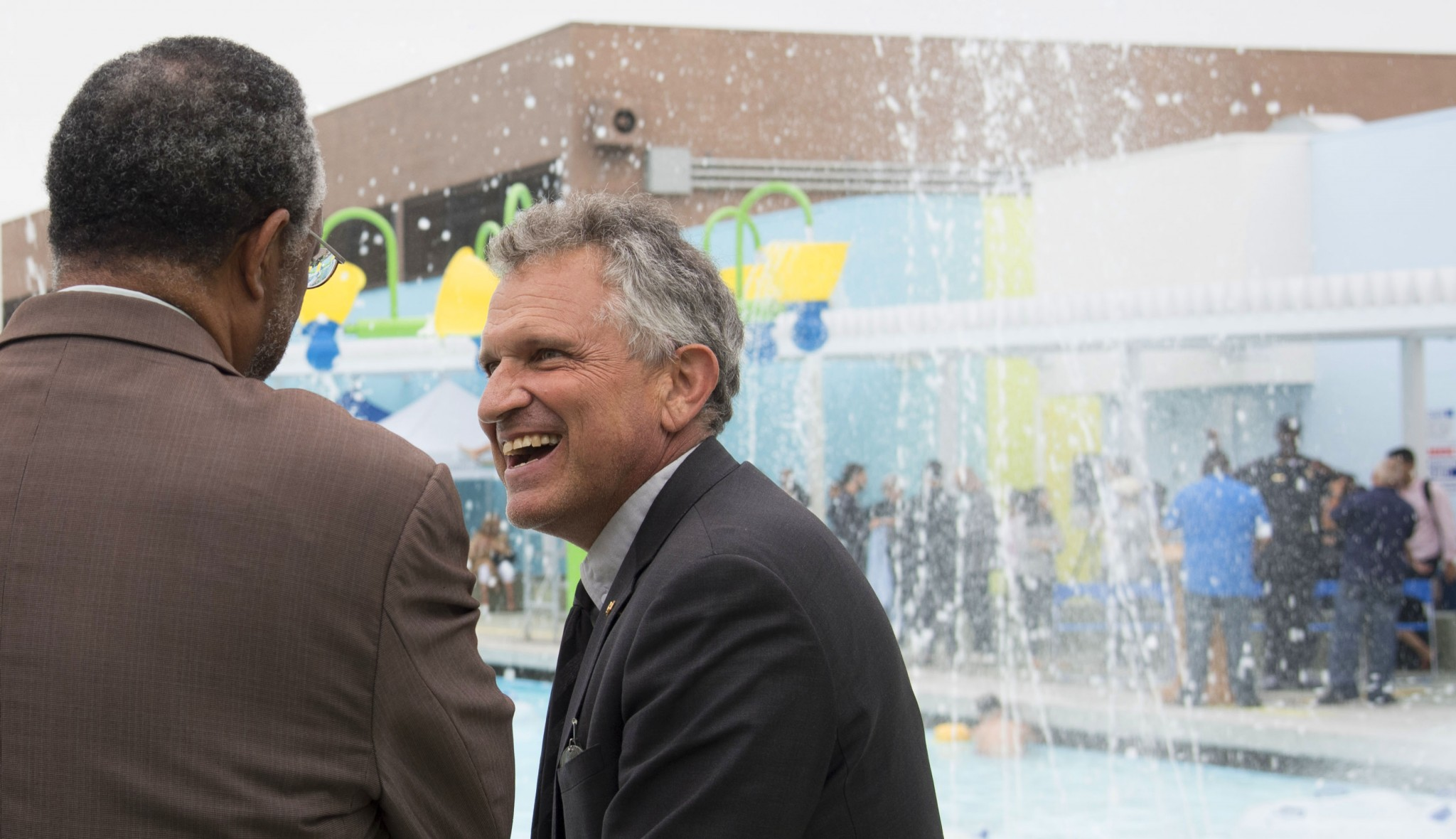 Michael Lehrer at the opening of Central Pool