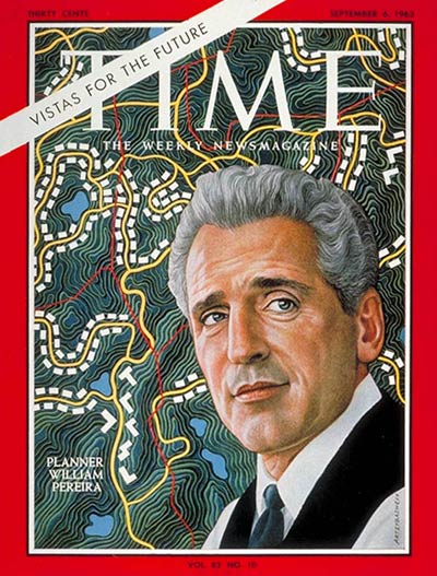 William L. Pereira graced the cover of Time Magazine on Sep. 6, 1963.