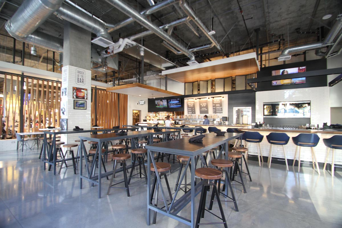 The bar area at the Whole Foods in downtown LA. Photo courtesy of DL English Design.