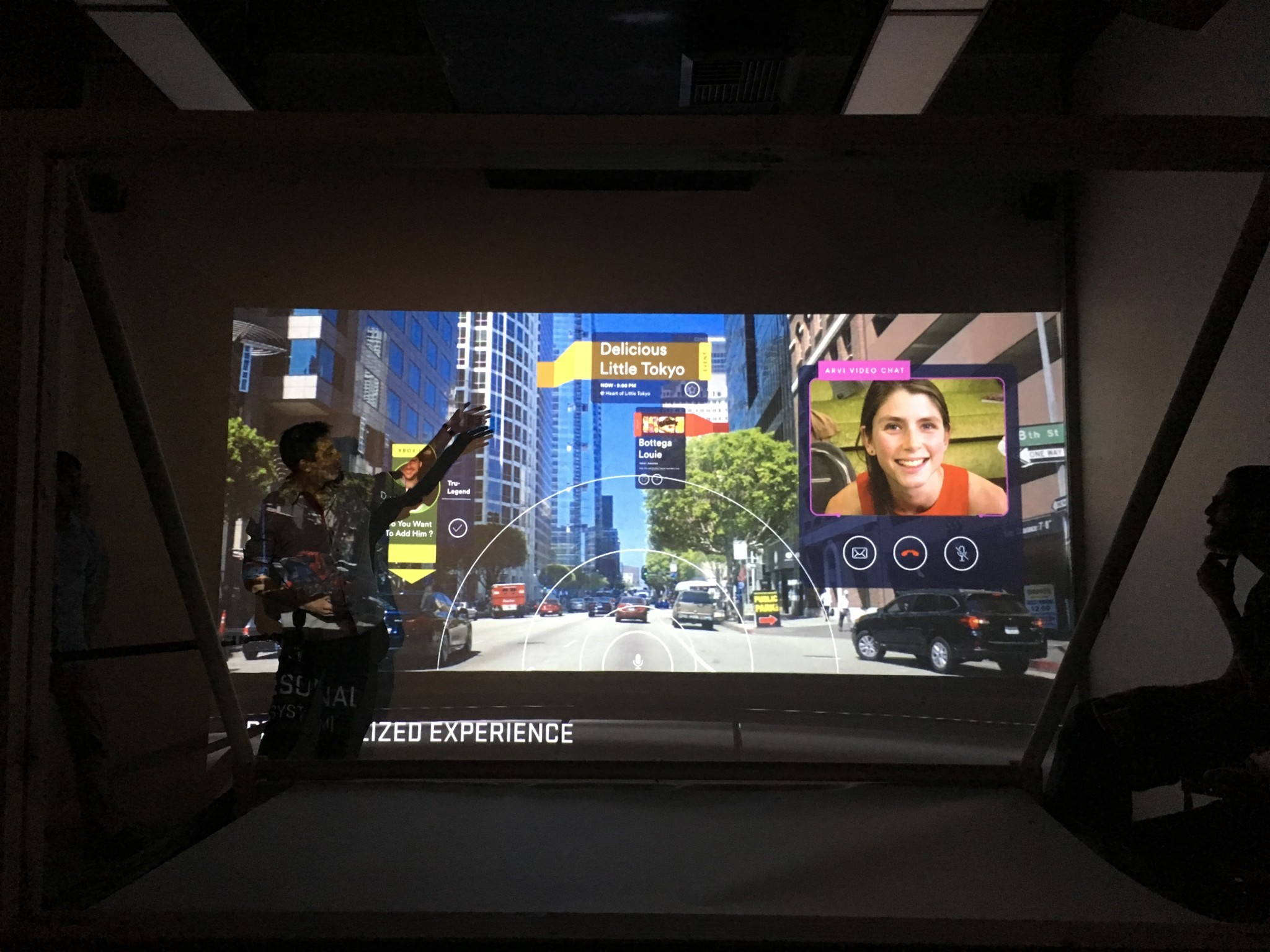 The car prototype ARVI (Augmented Reality Vehicular interface) is a social gaming experience in a moving platform. Photo by Nik Hafermaas.