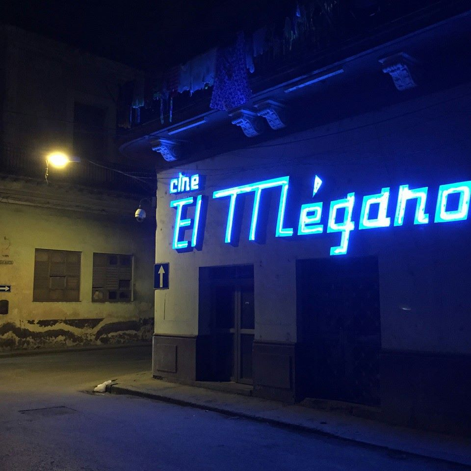 El Megano, one of 60 neon signs in Havana that Al Nodal is working to save.