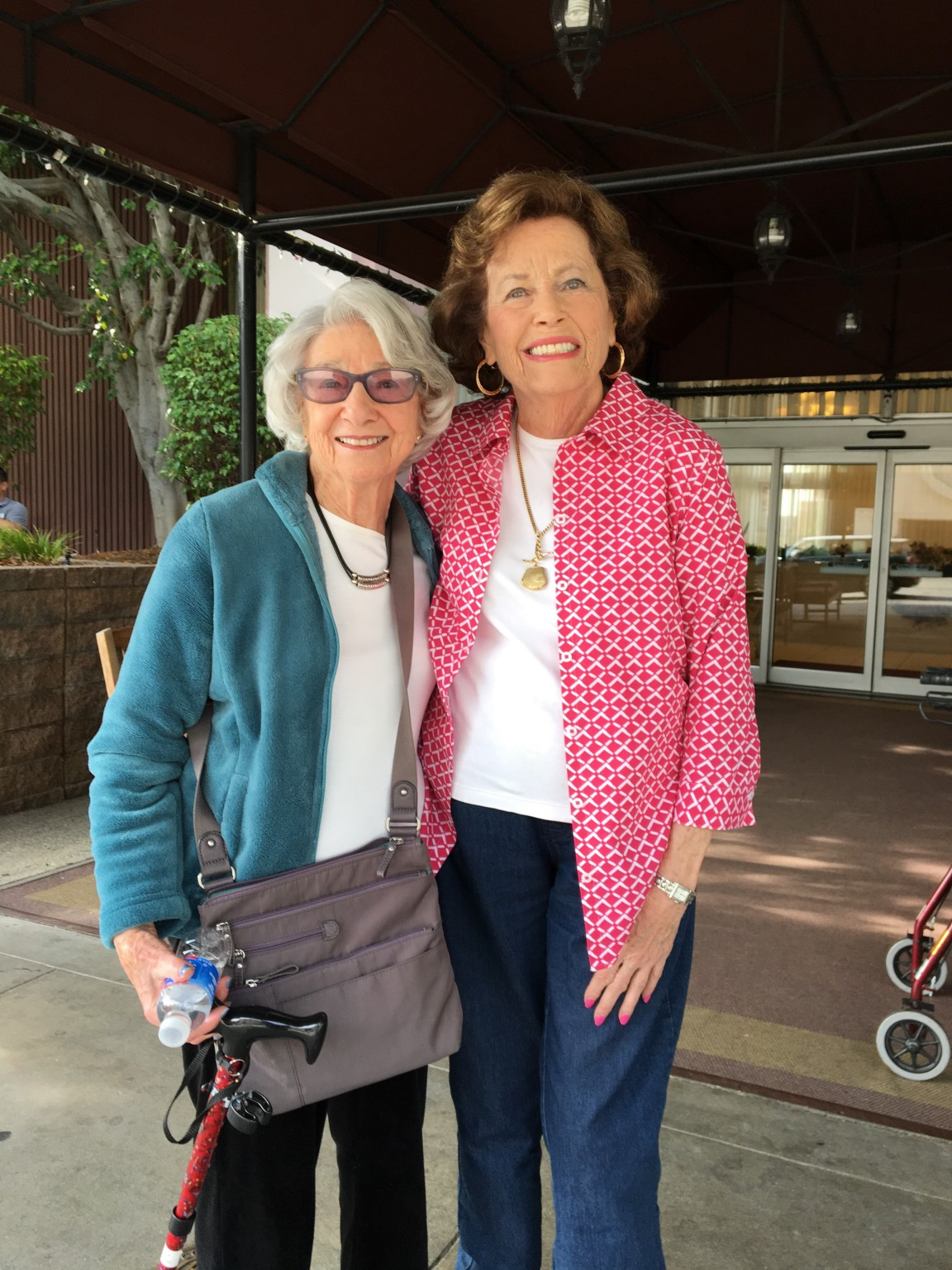 Lucille Polachek, left, and Ruth Stamler