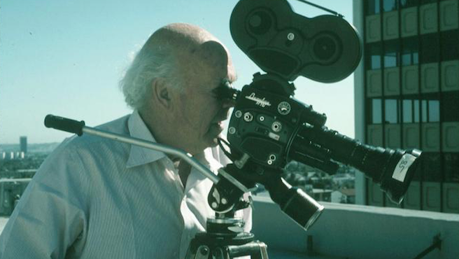John Lautner checks the view.