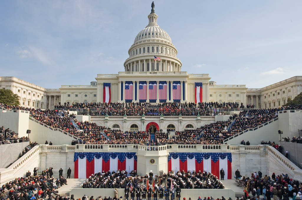 The 2009 inauguration of President Barack H. Obama on the West Front of the Capitol. Photo courtesy Architect of the Capitol.