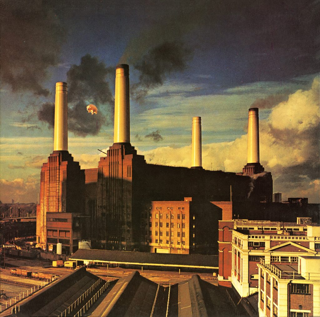 Image of the Battersea Power Station on Pink Floyd's Animals album.