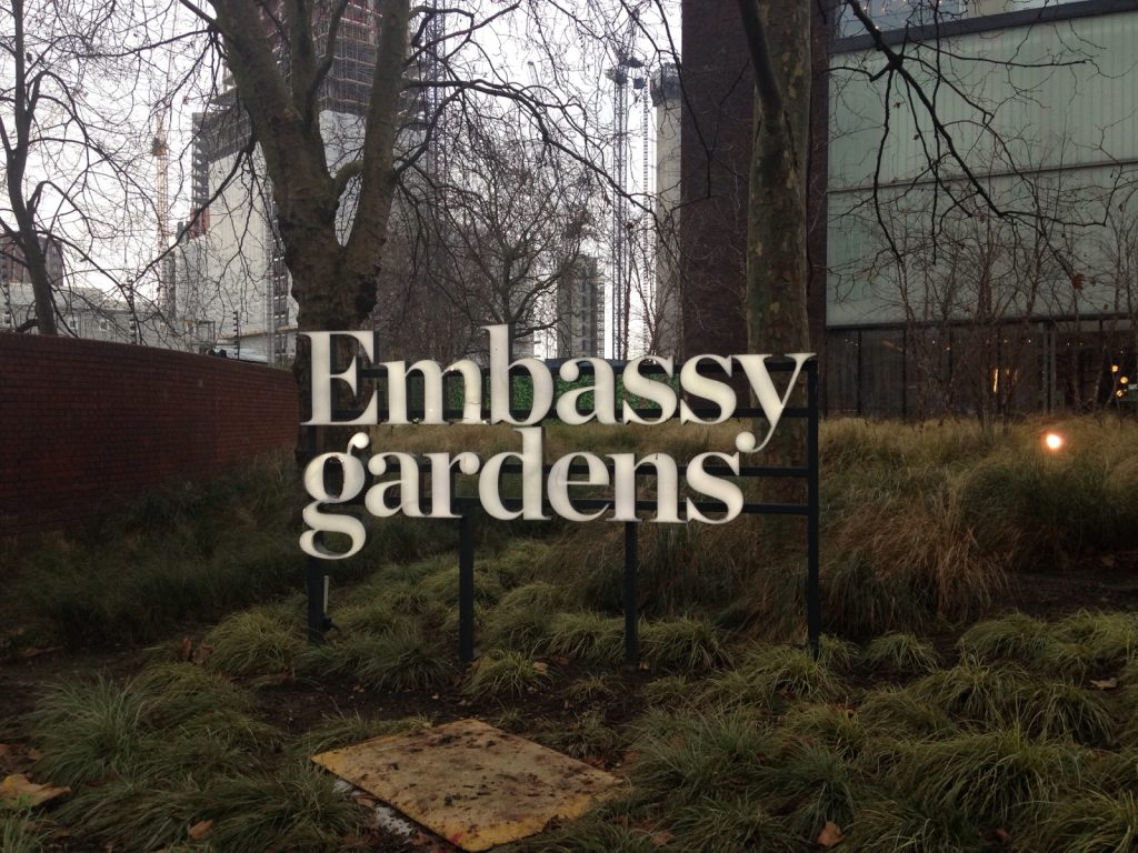 Embassy Gardens, designed by Allford Hall Monaghan Morris, draws inspiration from masonry buildings by Louis Sullivan and other early 20 century builders in the US (photo: Frances Anderton)