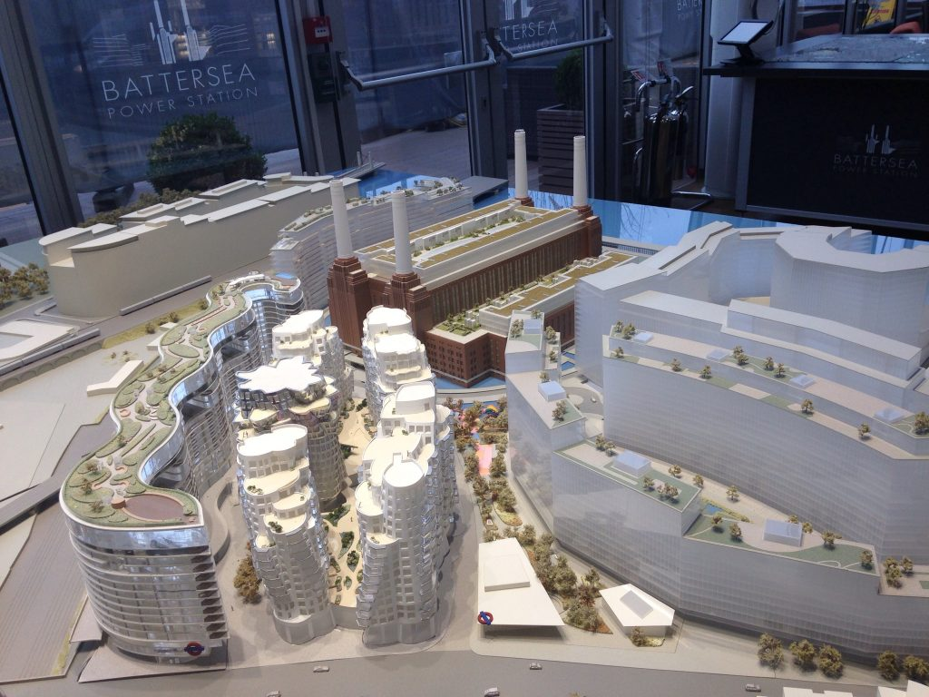 Model of the Battersea Power Station redevelopment (photo: Frances Anderton.)