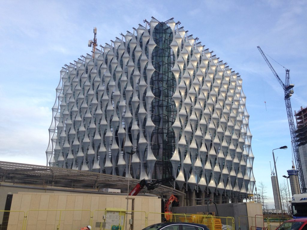 New US Embassy, designed by Kieran Timberlake, currently under construction in the Nine Elms district of Vauxhaul, (photo: Frances Anderton.)