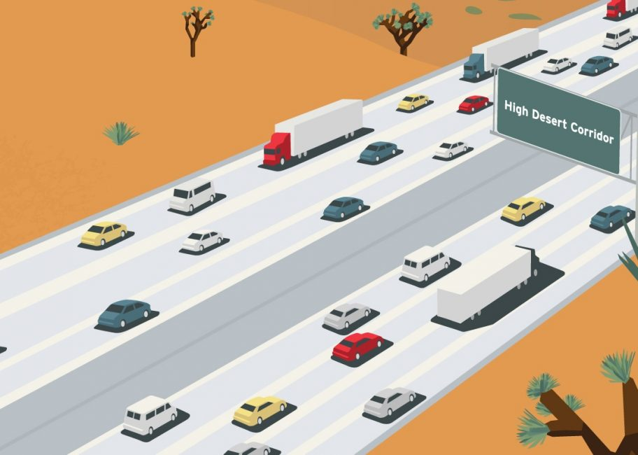 The proposed High Desert freeway has residents divided