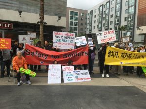 "Koreatown residents: ""No Hearing No Tent"""