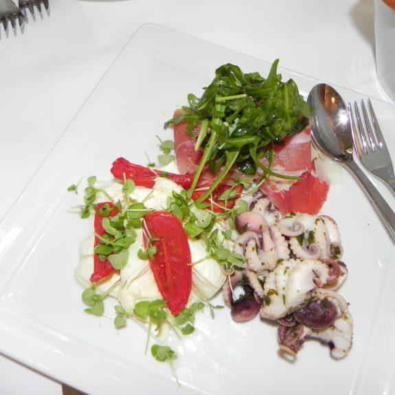 Squid, Prosciutto, Mozzarella, Tomatoes
