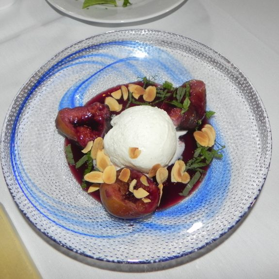 Akira Hirose's Poached Figs and Ice Cream