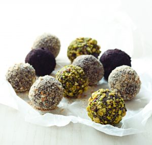 this week, shares a recipe for her Grown-up Chocolate Bourbon Balls ...