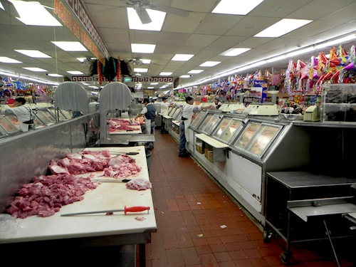 Behind the El Toro meat counter