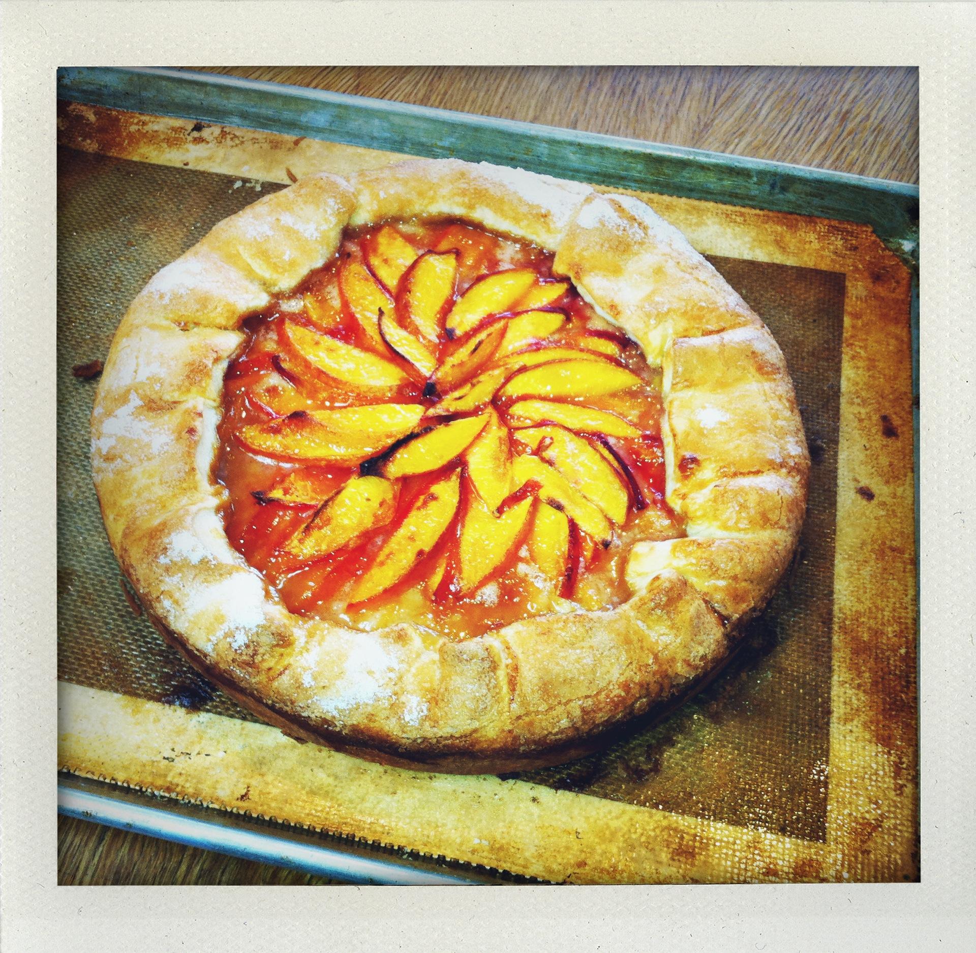 Huckleberry's Peach Crostata by Zoe Nathan | KCRW Good Food