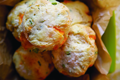 Recipe: Cheddar Chive and Jalapeno Biscuits | KCRW Good Food