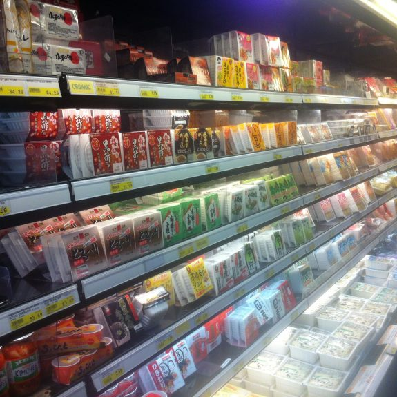 The tofu section