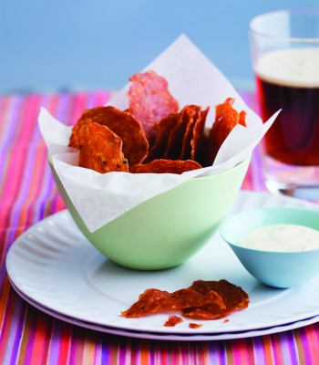 SLTS Salami Chips with Grainy Mustard Chips image p 105