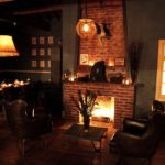 The fireplace at Eveleigh on the Sunset Strip.