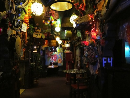 Bahooka interior showing clutter
