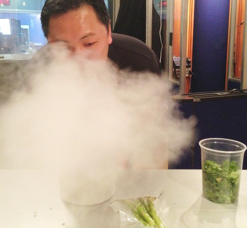 Sang and liquid nitrogen