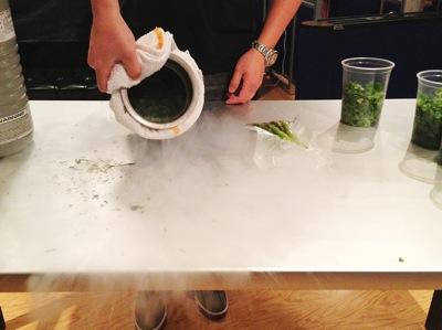 Sang and liquid nitrogen