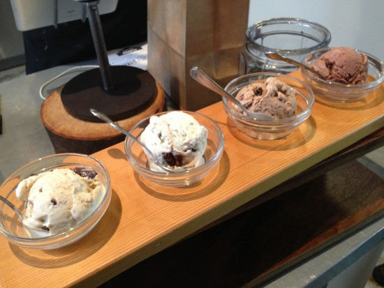 An ice cream flight at Salt & Straw.