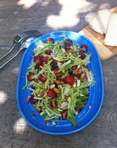 Amelia Saltsman's Cherry Almond Salad.