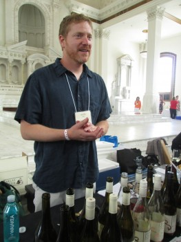 Tablas Creek's Jason Haas had the busiest table at the Rhône Rangers' tasting at  Vibiana over the weekend.