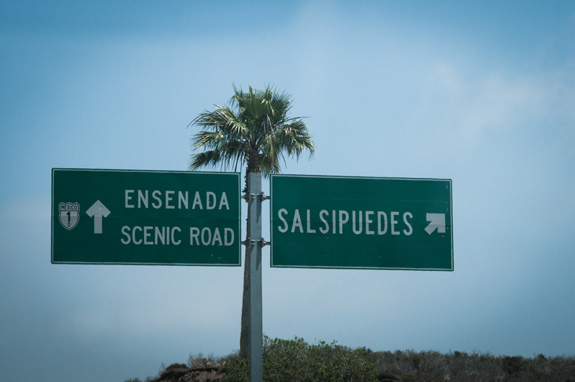 Salsipuedes is where the large tuna ranching operations keep their nets. You can see them in the bay as you drive past.