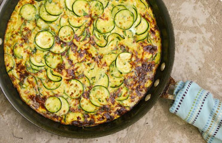 ... greek frittata with zucchini tomatoes feta and herbs frittata greek