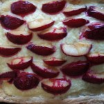 A Plum Slab Pie that Evan made using Jullapat's cream cheese dough