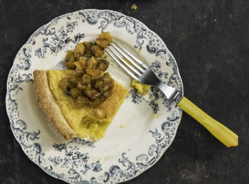 267_CHESS PIE WITH BLACKENED PINEAPPLE SALSA