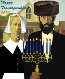 thanksgivukkah gothic poster