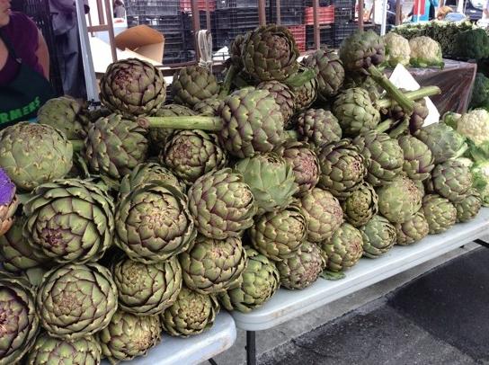 artichokes farmers' market