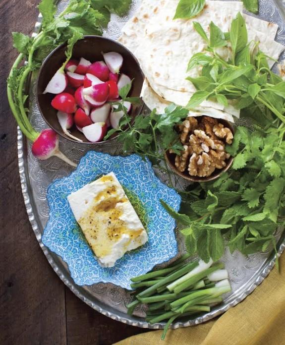 fresh herb platter