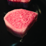 A Kobe steak at The New York Grill at the Park Hyatt in Tokyo.