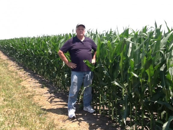 Garry Niemeyer in his corn field. Photo courtesy Garry Niemeyer.