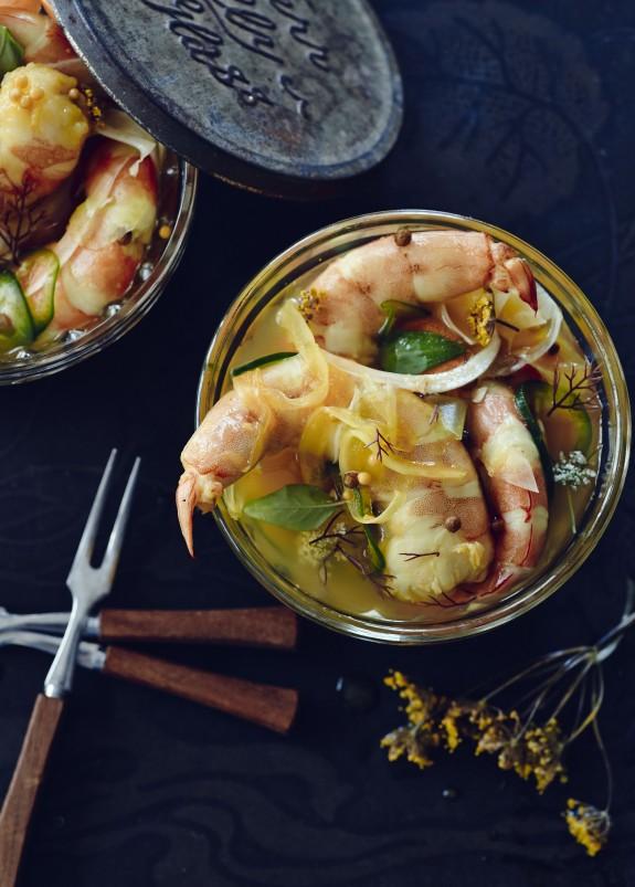 Recipe: Pickled Shrimp with Cilantro and Fennel