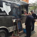 Jonathan Gold and Daniel Vaughn at Valentina's Tex Mex Barbecue in Austin