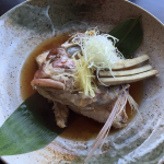 Dashi-simmered Snapper Head at Kinjiro.